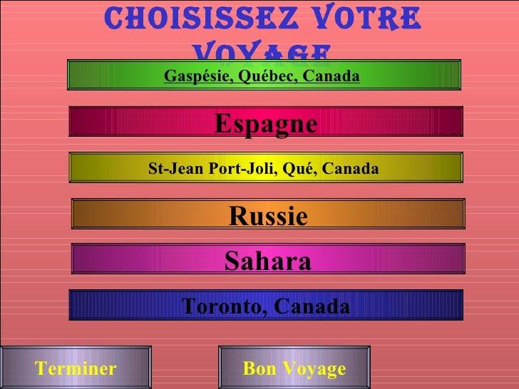 Choisissez Votre Voyage