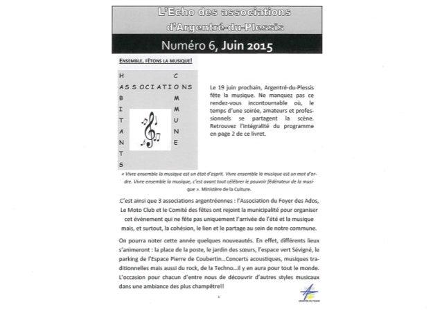 Echo des association juin 2015