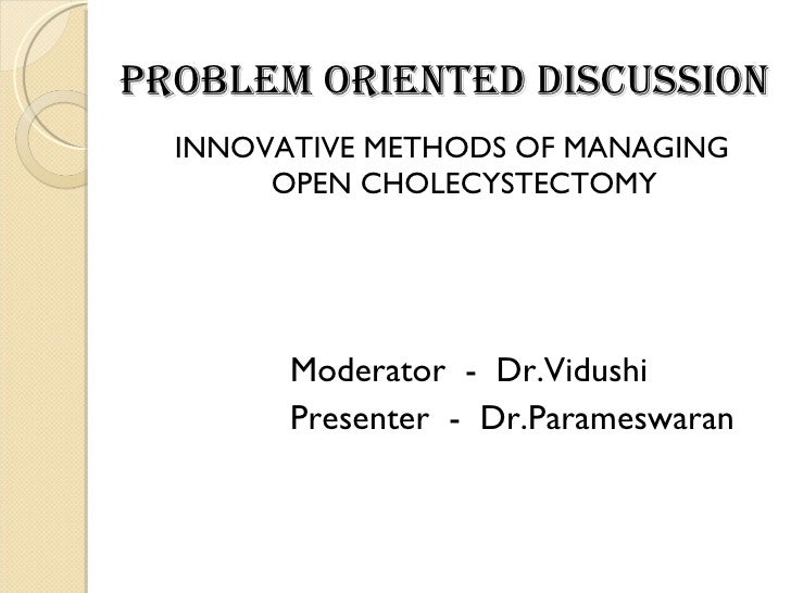 Cholecytectomy