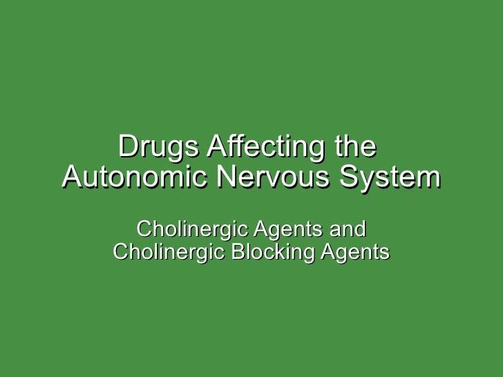 Cholinergic  blockers