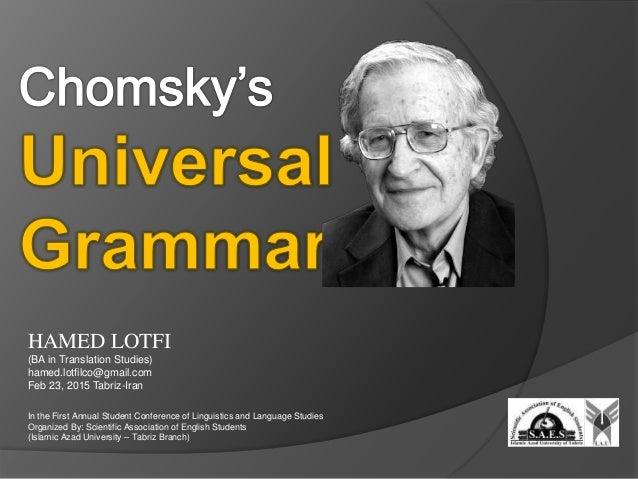 Chomskys Theory on Childrens Language Development