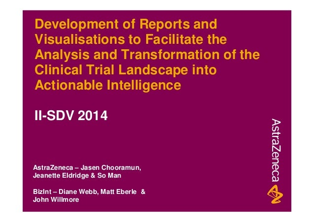 Development of Reports and Visualisations to Facilitate the Analysis and Transformation of the Clinical Trial Landscape in...