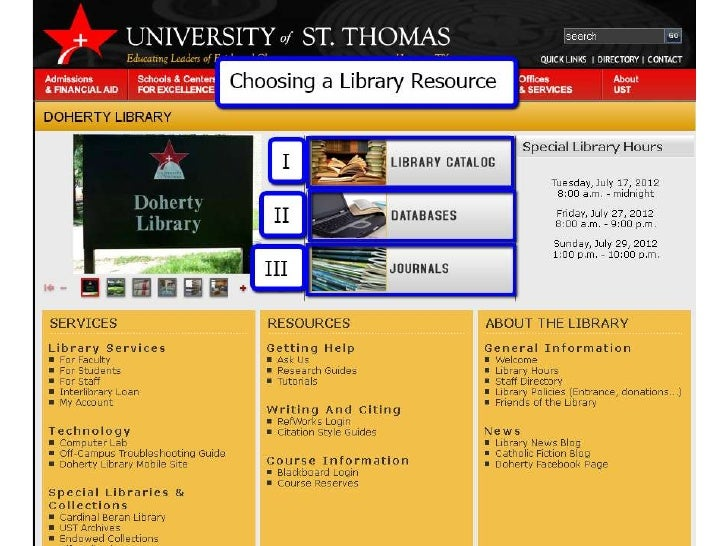 Choose a Library Resource