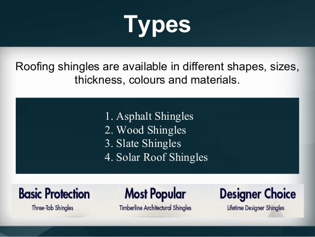 Types of roofing shingles for roofs for How many types of roofing shingles are there