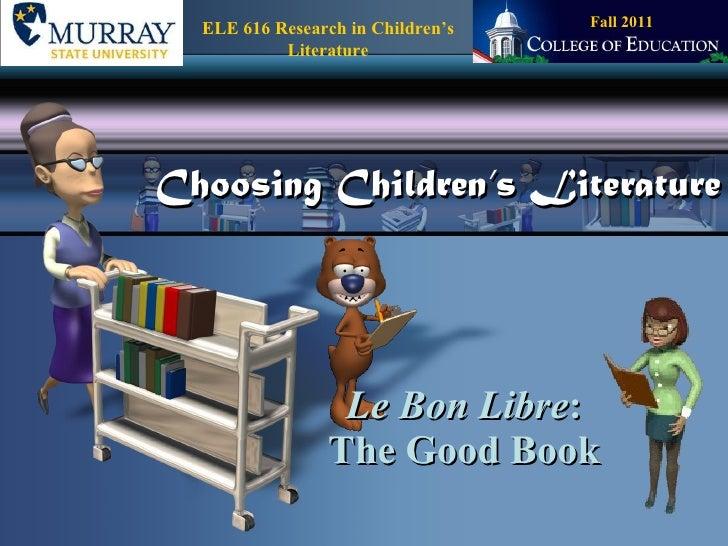 Choosing Children's Literature 2003