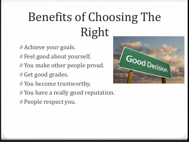 how to choose the right path