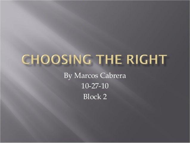 Choose the Right Presentation