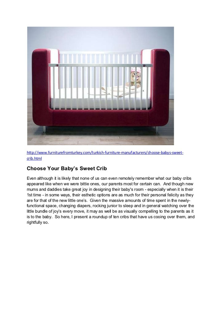 Choose your baby's sweet crib