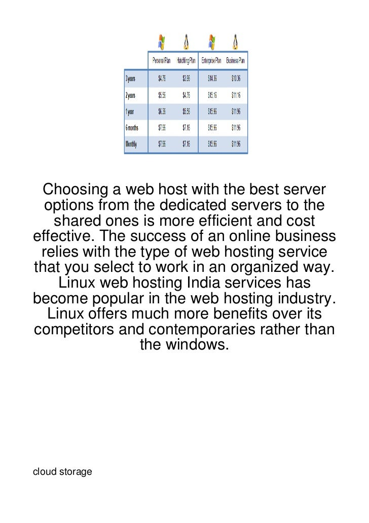 Choosing a web host with the best server  options from the dedicated servers to the   shared ones is more efficient and co...