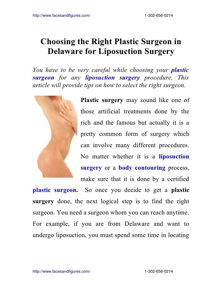 http://www.facesandfigures.com/13026560214     Choosing the Right Plas...