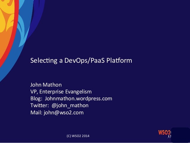 Building a Cloud Native Platform with WSO2 Private PaaS