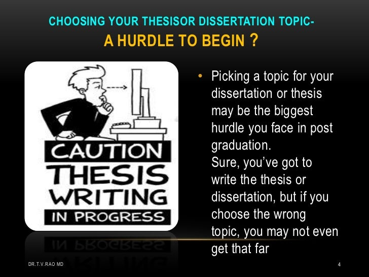Choosing a thesis topic journalism