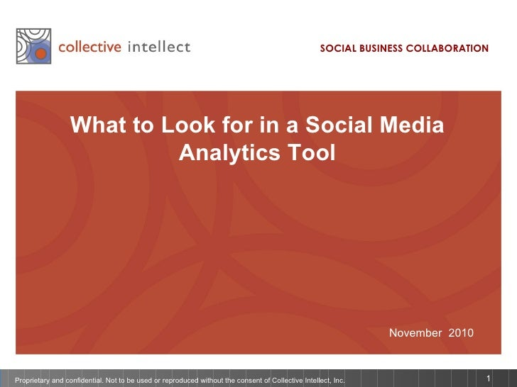 What to Look for in a Social Media Analytics Tool