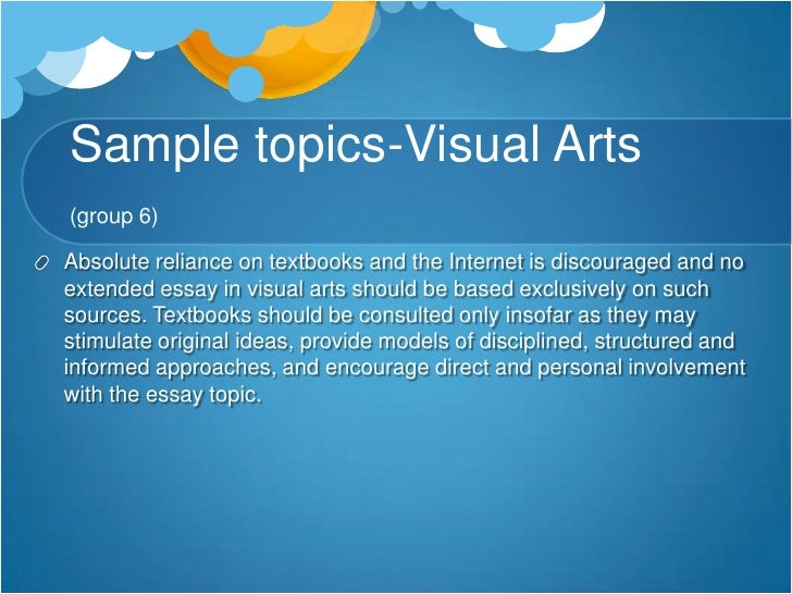 Art extended essay sample