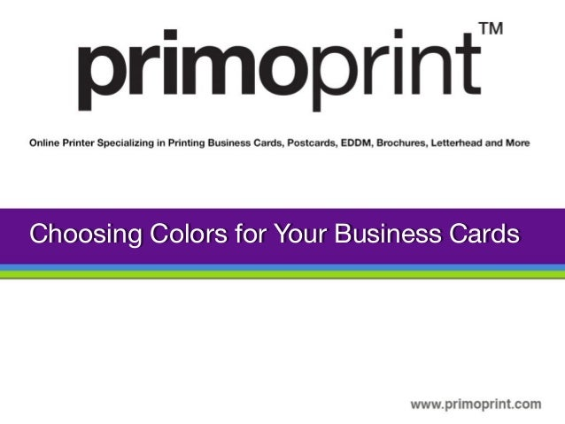 Choosing Colors For Your Business Card Design