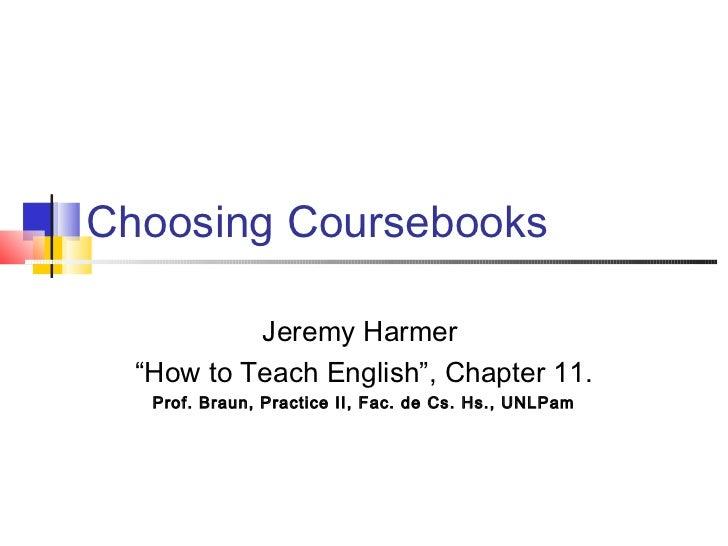 Choosing coursebooks