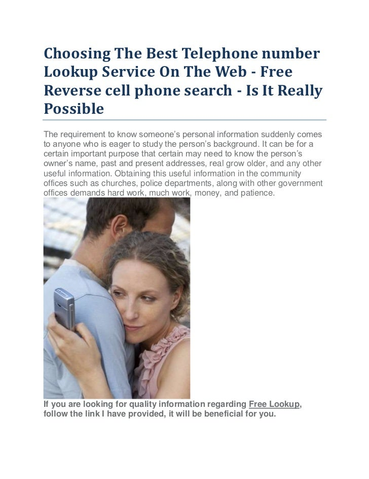 Number lookup service on the web free reverse cell phone search is