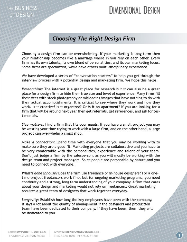 Choosing a Design Firm
