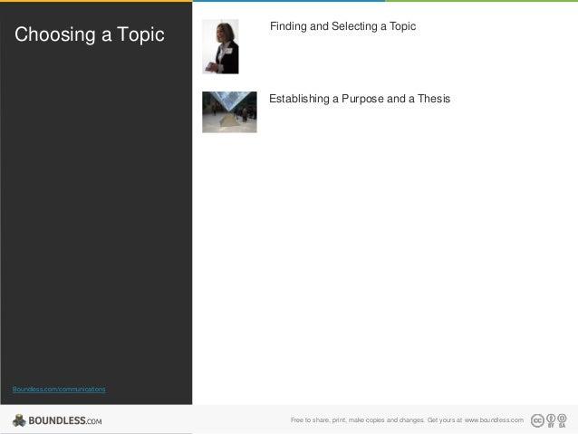 Choosing Topic