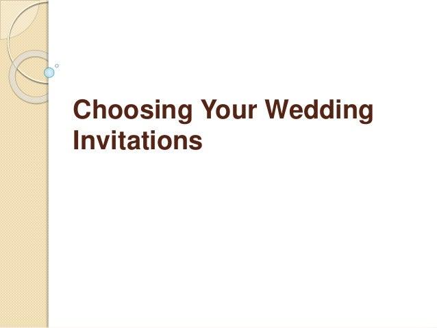 Choosing Your Wedding Invitations