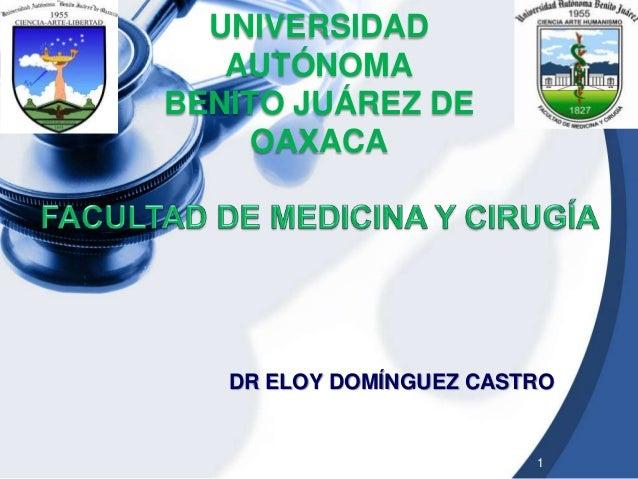 UNIVERSIDAD AUTÓNOMA BENITO JUÁREZ DE OAXACA  DR ELOY DOMÍNGUEZ CASTRO  1