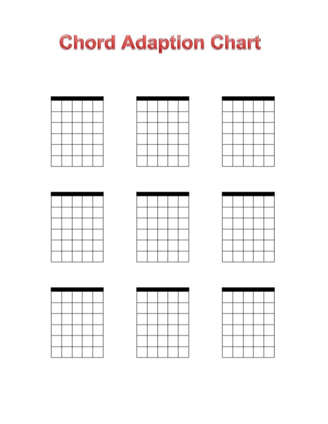 This is a picture of Declarative Printable Blank Guitar Chord Chart