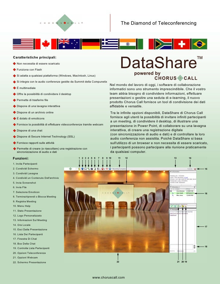 Chorus Call Data Share Flyer Large Print Version Italian Version 20100506