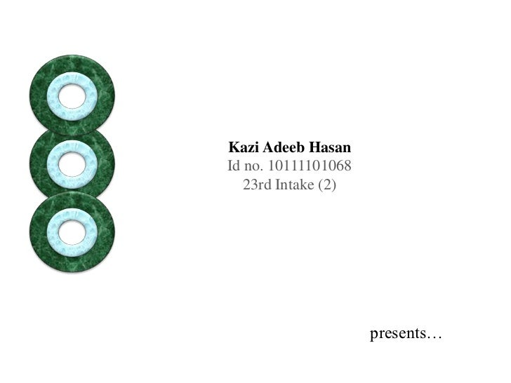 Kazi Adeeb HasanId no. 10111101068   23rd Intake (2)                     presents…