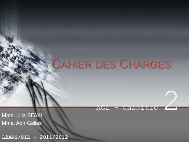 Chp2 - Cahier des Charges
