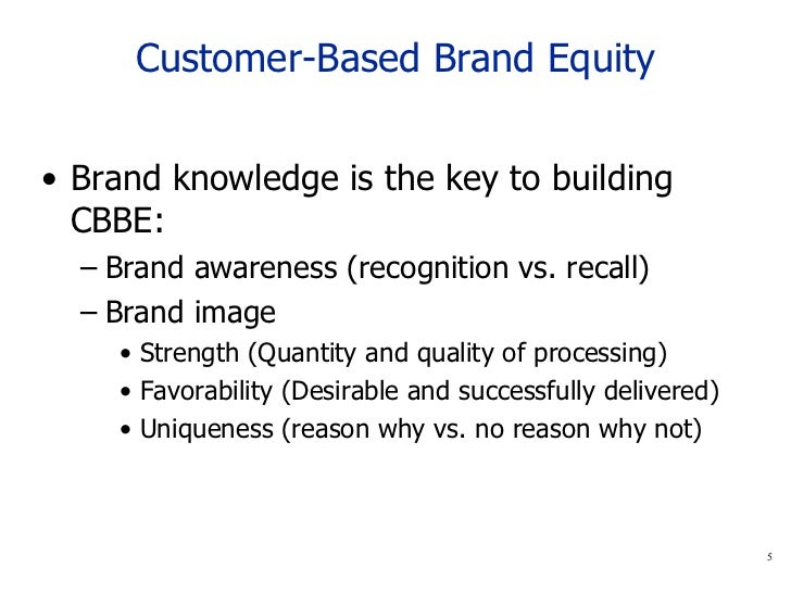 Measuring customer based brand equity