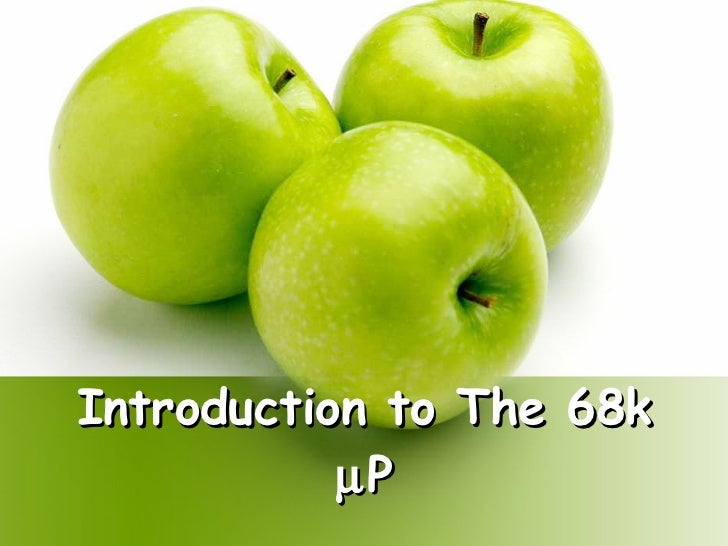 Introduction to The 68k   P