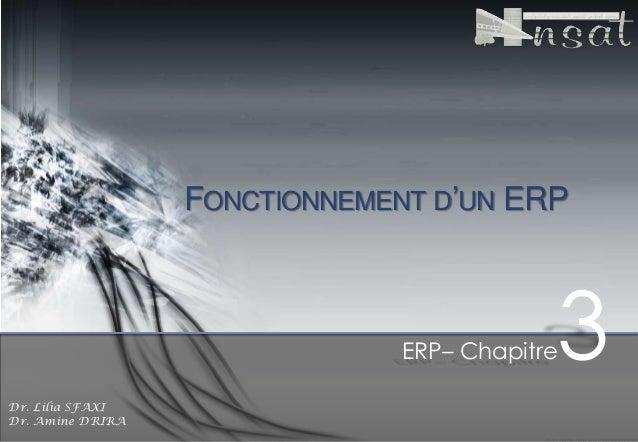 FONCTIONNEMENT D'UN ERP  ERP– Chapitre Dr. Lilia SFAXI Dr. Amine DRIRA  3