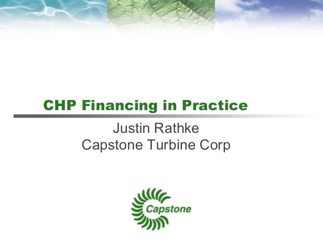 Chp financing in practice