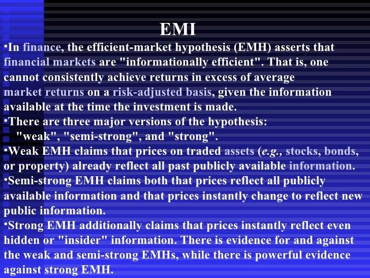 ECON 252 (2011) - Lecture 7 - Efficient Markets - Open