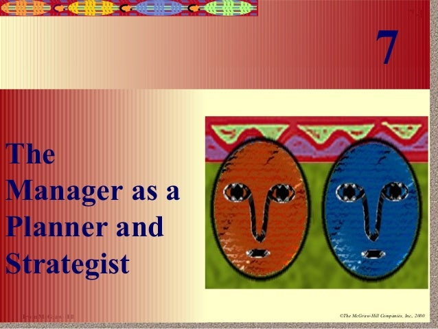 7  7-1  The Manager as a Planner and Strategist Irwin/McGraw-Hill  ©The McGraw-Hill Companies, Inc., 2000