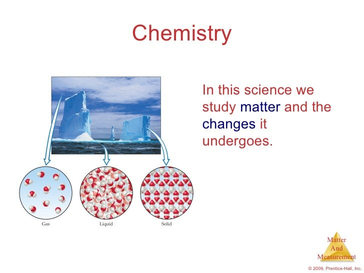 Chemistry      In this science we      study matter and the      changes it      undergoes.                            Mat...