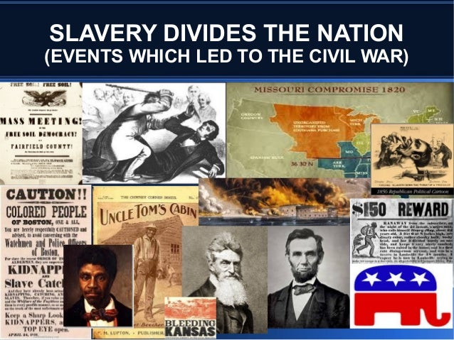 SLAVERY DIVIDES THE NATION (EVENTS WHICH LED TO THE CIVIL WAR)