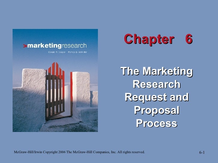 Chapter  6 The Marketing Research Request and Proposal   Process