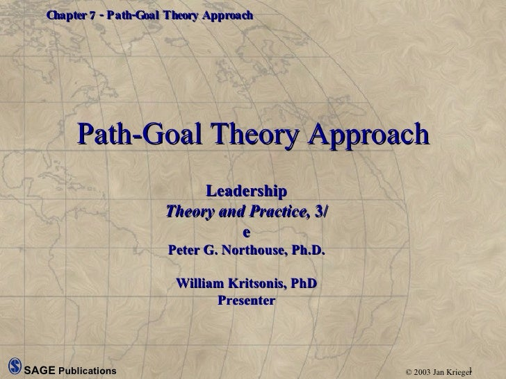 Path-Goal Theory Approach Leadership Theory and Practice,  3/e Peter G. Northouse, Ph.D. William Kritsonis, PhD Presenter
