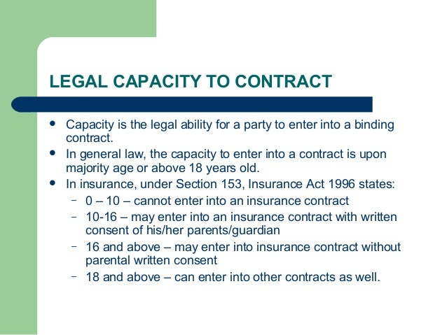 importance of the contracting parties having the appropriate legal capacity to enter into a binding  5 explain the importance of the contracting parties having the appropriate legal capacity to enter into a binding agreement this contract states what is and will be expected from both of the parties, including the support services provided by the franchisor and obligation of the franchisee.