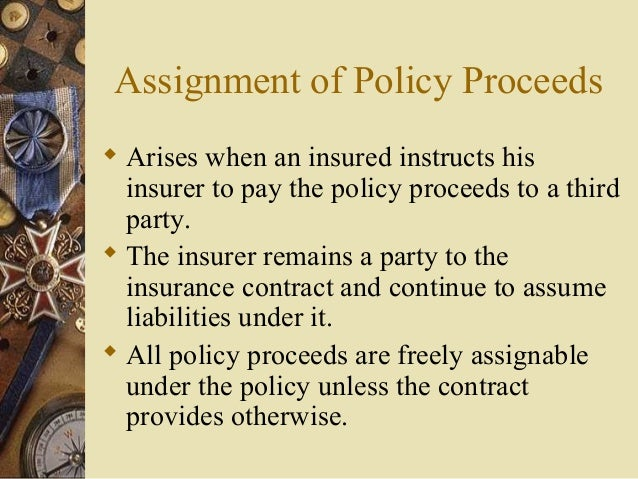Assignment of insurance proceeds