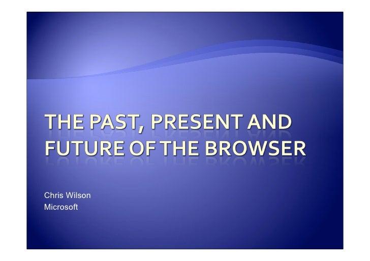 Chris Wilson Microsoft