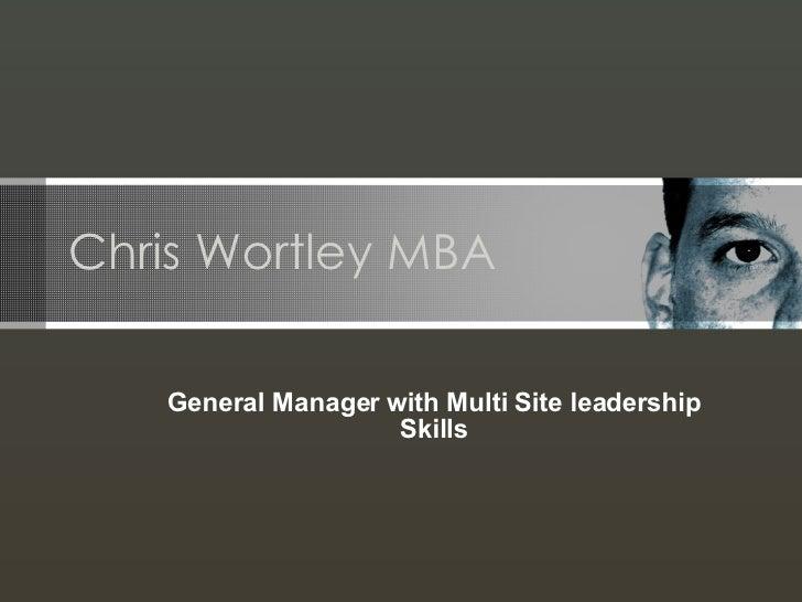 Chris Wortley Portfolio