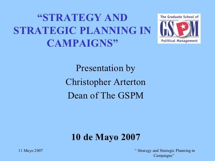 Estrategias y planificación de campañas electorales