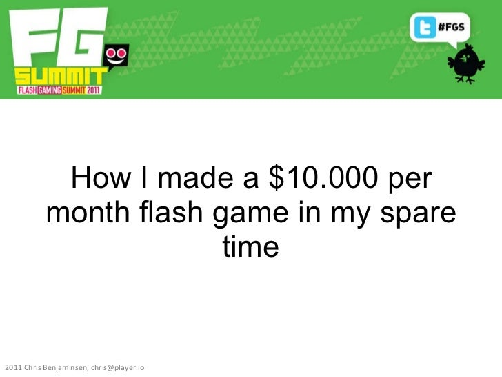 How I made a $10.000 per month flash game in my spare time