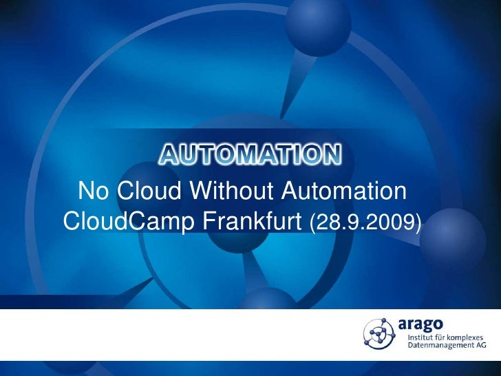 Chris Boos   No Cloud Without Automation