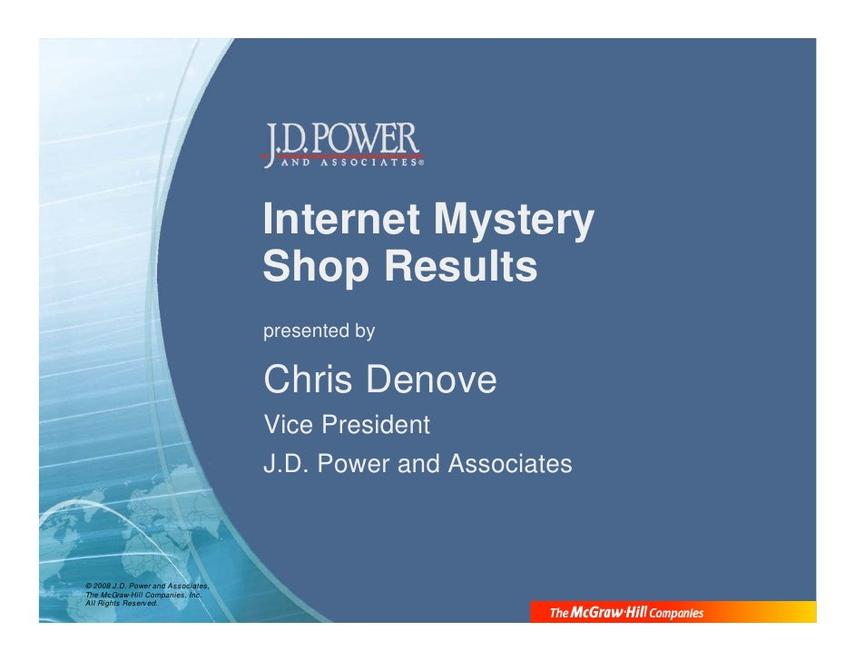 Internet Mystery                                     Shop Results                                     presented by        ...