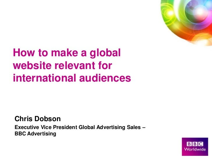 How to make a Global Website Relevent for International Audiences