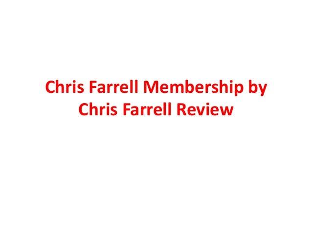 Chris Farrell Membership by Chris Farrell Review