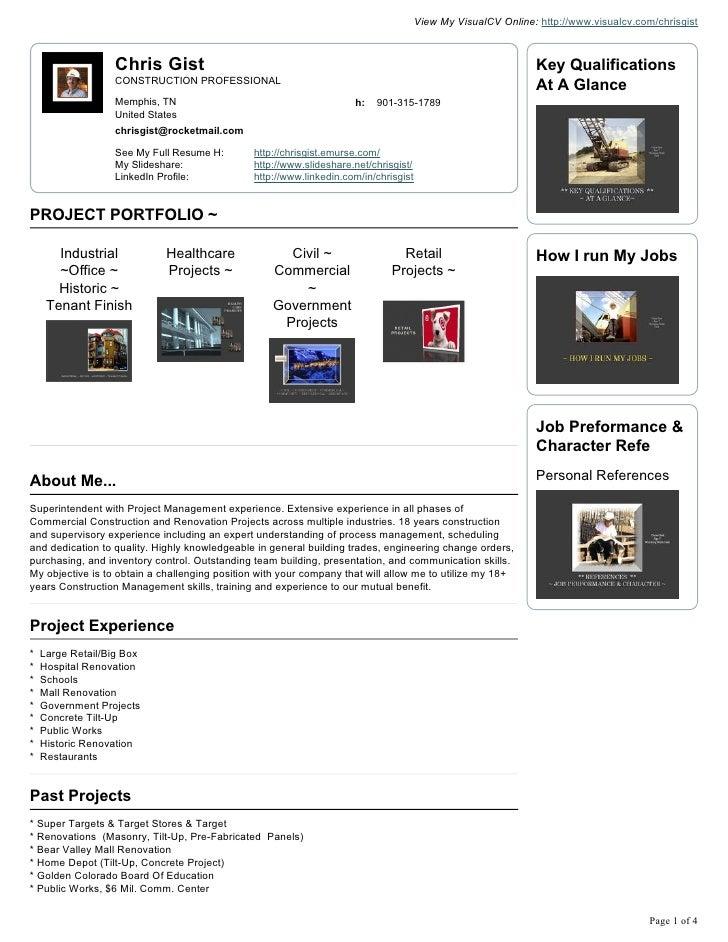 Chris Gist Visual Cv Resume(4)